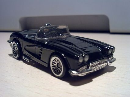 Hot Wheels 1998 Hot Wheels Chevrolet '58 Corvette Convertible 350 Crate motor